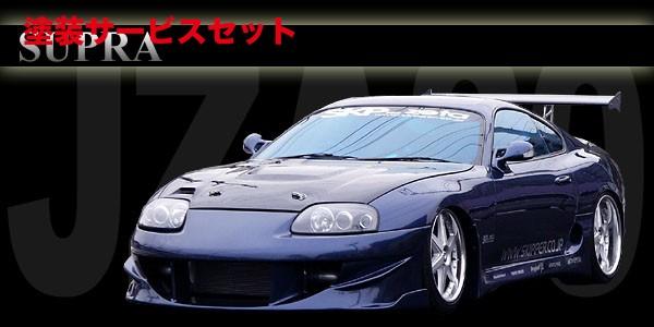 ★色番号塗装発送80 スープラ   フロントバンパー【スキッパー】JZA80 スープラ FRONT BUMPER SPOILER