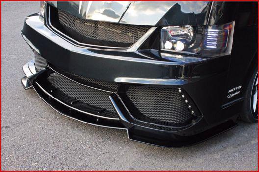 200 ハイエース ワイド | フロントリップ【スティンガー】ハイエース 200系 4型 ワイドボディ フロントフリッパー