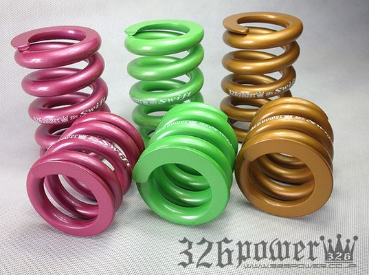 汎用 | スプリング【ミツルパワー】マジバネ ID66 (65-66兼用) -H120 2本1セット カラー:ピンク スプリングレート:6K