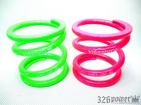 スプリング | スプリング【ミツルパワー】チャラバネ ID63 (62-63兼用) -H80 2本1セット 08K カラー:ミドリ