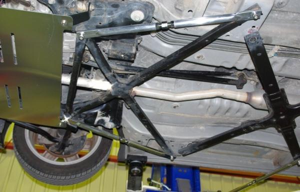 フロントラダーバー【シュピーゲル】フロントロアモノコックバー (左右2本セット) ダイハツ コペン L880K
