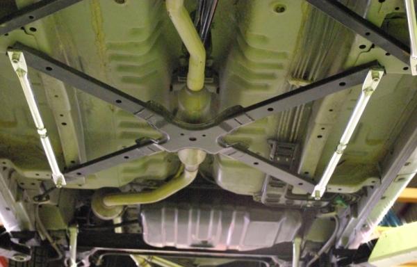 フロアサポートバー【シュピーゲル】フロアモノコックバー サイド (左右2本セット) ダイハツ コペン L880K