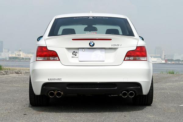 BMW 1 Series E82クーペ | リアアンダー / ディフューザー【3D デザイン】BMW E82 M-Sport 1 Series リアディフューザー デュアル カーボン