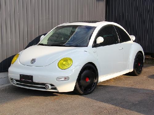 VW NEW BEETLE | フロントライトカバー / リトラカバー【シックスセンス】VW BEETLE ヘッドライトカバー クリアーイエロー 前期用