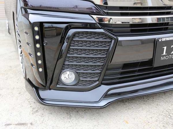 30 ヴェルファイア   フロントフォグランプ【シックスセンス】ヴェルファイア 30系 Z フォグランプフレーム(ABS素地) 純正色塗装済み 8V5グレイッシュブルーマイカメタリック