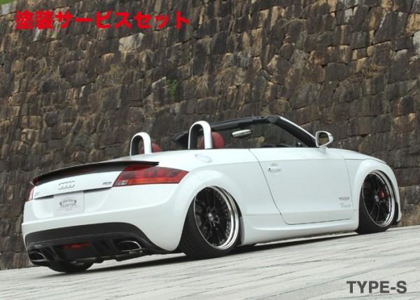 ★色番号塗装発送Audi TT 8J   サイドステップ【ブローデザイン】8J AUDI TT (2.0 TURBO 2WD) MP PHANTOM GA-MU TYPE-S SIDE SKIRT (ALL FRP TYPE-S MODEL)