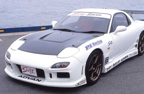 FD3S RX-7 | ボンネット ( フード )【シフトスポーツ】RX7 RX-7 FD3S エアロボンネット CARBON