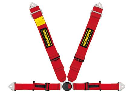 【シュロス】レーシングベルト(シートベルト) PROFI2-FE asm Bolt-in 【 RED 】