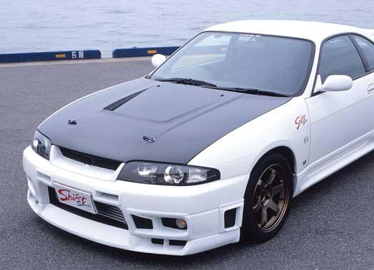 R33 GT-R | ボンネット ( フード )【シフトスポーツ】スカイラインGT-R BCNR33 エアロボンネット CARBON