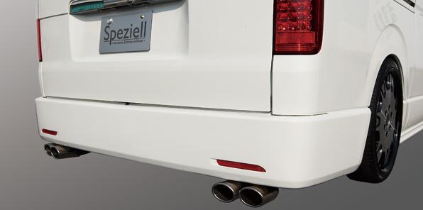 200 ハイエース | エキゾーストキット / 排気セット【スペジール】ハイエース 200系 4本出しマフラー 3.0L ディーゼル 2型 ナロー センターストレート付
