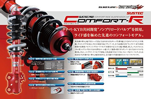 【タナベ】サスペンション(車高調キット) 【 サステックプロ 】 SUSTEC PRO CR ヴィッツ KSP90 1KR-FE 2005年02月~2010年12月