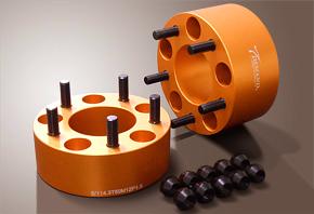 【ティーディメンド】汎用 ワイドトレッドスペーサー TDMゴールド 114.3-5H (P1.5) 2枚1セット 55mm