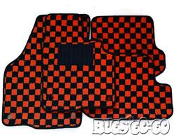 ザ・ビートル   フロアマット【バグズゴーゴー】VW The Beetle フロアマットセット レッド