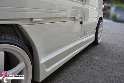 U61 ミニキャブ | サイドステップ & / ドアパネル 2dr【ブラックス】ミニキャブトラック U61T 中期 サイドパネル