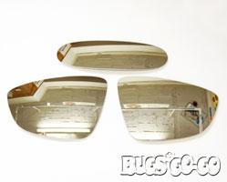 ザ・ビートル   ミラープレート【バグズゴーゴー】VW The Beetle ワイドビューミラー 3枚セット