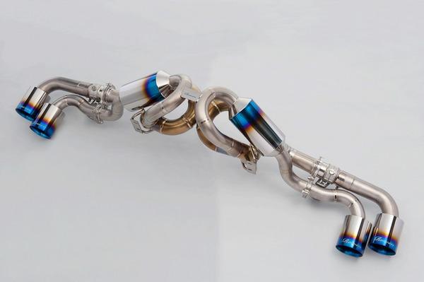 F430   チタンマフラー【ロエン / トミーカイラ】Ferrari F430 F1 PREMIUM01TR (HEAT BLUE TITAN) 可変バルブ付き