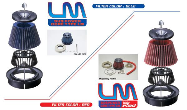 ランサーエボ 10 | エアクリーナー キット【ブリッツ】ランサーエボリューション 10 CZ4A SUS POWER CORE TYPE LM-RED
