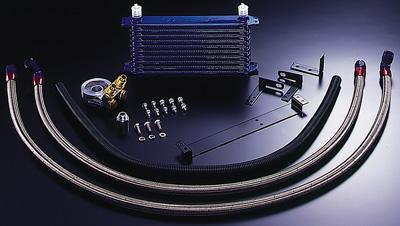 R33 GT-R | オイルクーラー【トラスト】スカイラインGT-R BCNR33 GReddy オイルクーラーキット オイルエレメント移動タイプ NS1010G ラジエター前