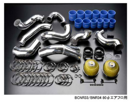 R32 GT-R | ツイン / エアクリーナーキット【トラスト】スカイライン GT-R BNR32 GReddy コンプリートサクションキット RB26DETT用 80φエアフロ