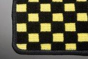 【テイクオフ】DA64V EVERY VAN フロアマット 運転席側 ヒールパッド:無 チェッカーイエロー オーバーロックカラー:ブラック -