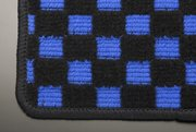 【テイクオフ】H#11/21 アルトワークス フロアマット 運転席側 ヒールパッド:無 チェッカーブルー オーバーロックカラー:ブラック -