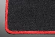 【テイクオフ】L150 ムーヴ フロアマット 運転席側 ヒールパッド:無 スタンダードブラック オーバーロックカラー:レッド -