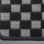 【テイクオフ】アルトワークス/アルトRS(HA36S) フロアマット チェッカーグレー/オーバーロックカラー・レッド 運転席ヒールパッド無 運転席フックタイプ(センター/ドア側) -