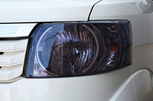 【テイクオフ】N-BOX JF1/2 標準グレード専用 ヘッドライトカバー 左右1set ライトスモーク -