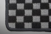 【テイクオフ】JA4/5 トゥデイ フロアマット 運転席側 ヒールパッド:有 チェッカーグレー オーバーロックカラー:ブラック -