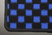 【テイクオフ】DA64W EVERY WAGON フロアマット 運転席側 ヒールパッド:無 チェッカーブルー オーバーロックカラー:ブラック -