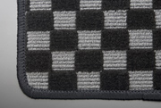MG21 モコ | フロアマット【テイクオフ】MG21 モコ フロアマット 運転席側 ヒールパッド:有 チェッカーグレー オーバーロックカラー:ブラック