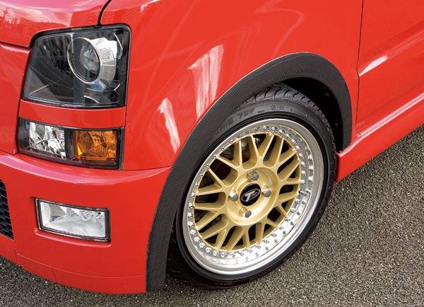 MC ワゴンR | オーバーフェンダー / トリム【テイクオフ】ワゴンR RR MC21S フェンダーアーチ ゲルコートタイプ(白/黒)
