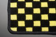 JE1/2 ゼスト   フロアマット【テイクオフ】JE1/2 ゼスト フロアマット 運転席側 ヒールパッド:無 チェッカーイエロー オーバーロックカラー:ブラック