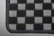 HM1.2 バモス   フロアマット【テイクオフ】HM1.2 バモス フロアマット 運転席側 ヒールパッド:無 チェッカーグレー オーバーロックカラー:ブラック