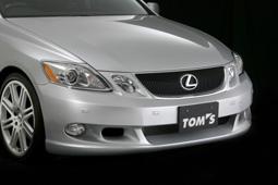 LEXUS GS S190   フロントバンパー【トムス】フロントバンパースポイラー GWS191.UZS190.GRS19# ソナー無