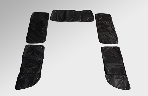 ブラインドシェード【ユーアイ】ハイエース 200系 1-3型 S-GL/GL 5ドア 標準ボディ 遮光パッド リア5面