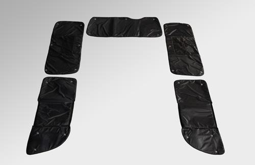 ブラインドシェード【ユーアイ】ハイエース 200系 遮光パッド リア5面 [グレード] 4型:GL 4ドア(2nd左右小窓付き)(ワイドボディ)