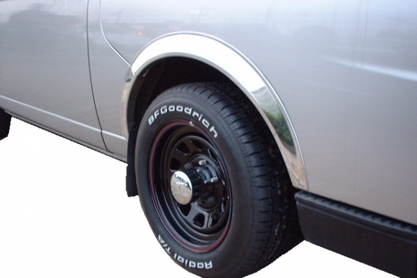 E25 キャラバン | オーバーフェンダー / トリム【ワールド】E25 キャラバン オーバーフェンダートリム クロームメッキタイプ