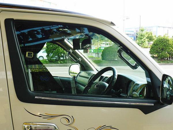 200 ハイエース 標準ボディ | その他 外装品【ワールド】ハイエース 200系 1-4型 標準ボディ ウインドウフィニッシャー ブラック革シボ調