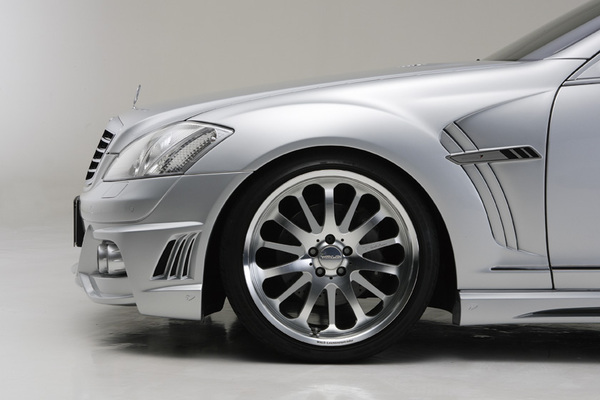 BENZ S W221 | フェンダーキット【ヴァルド】【E】BENZ S W221 SPORTS LINE Black Bison Edition スポーツフェンダーダクト V2 (FRP製.純正交換式(~2009y)