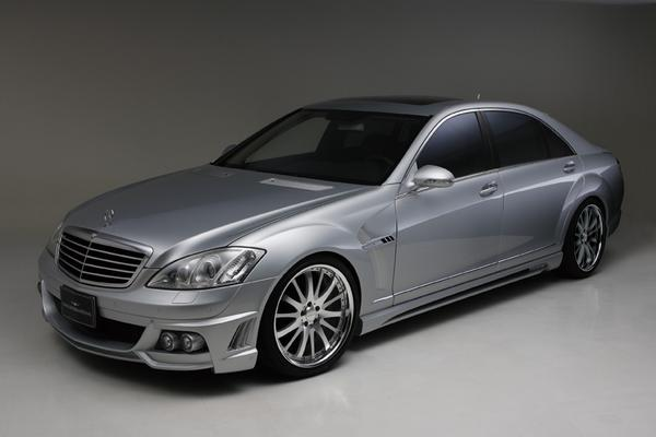 BENZ S W221 | サイドステップ【ヴァルド】【A】BENZ S W221 SPORTS LINE Black Bison Edition サイドステップ (~2009y) (Short)