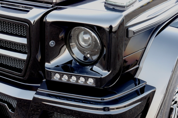 BENZ G W463 | フォグカバー【ヴァルド】【C】BENZ G W463 Sports Line BlackBison Edition HEAD LIGHT COVER (HYBRID製 カーボン/FRP製)