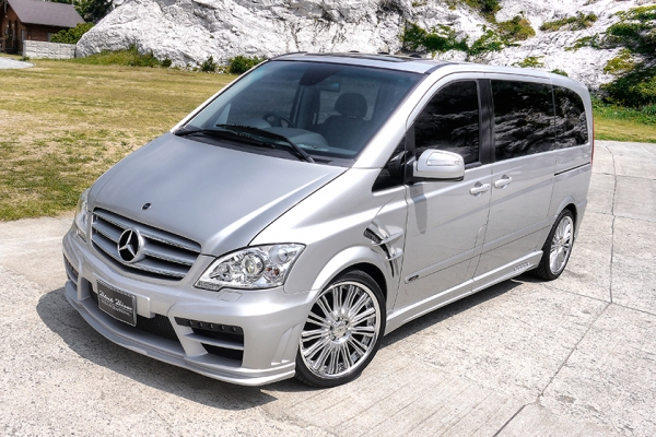 BENZ V W639 | サイドステップ【ヴァルド】【C】MERCEDES BENZ V-CLASS W639 Sports Line Black Bison Edition For ~11y (12y LOOK 変身KIT) サイドステップ SHORT用