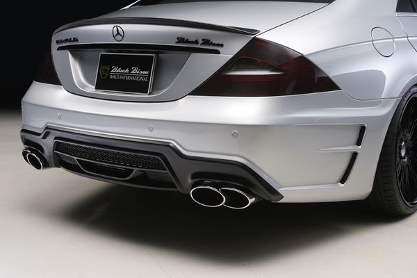 BENZ CLS W219(C219) | マフラーカッター【ヴァルド】【E】BENZ CLS W219 (~07y) Sports Line Black Bison Edition D.T.M スポーツマフラーカッター (TWIN240×2)