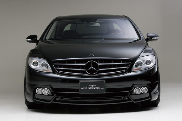 BENZ CL W216(C216) | フロントハーフ【ヴァルド】【A】BENZ CL W216 SPORTS LINE Black Bison Edition フロントスポイラー (~2010y) Ver.LED