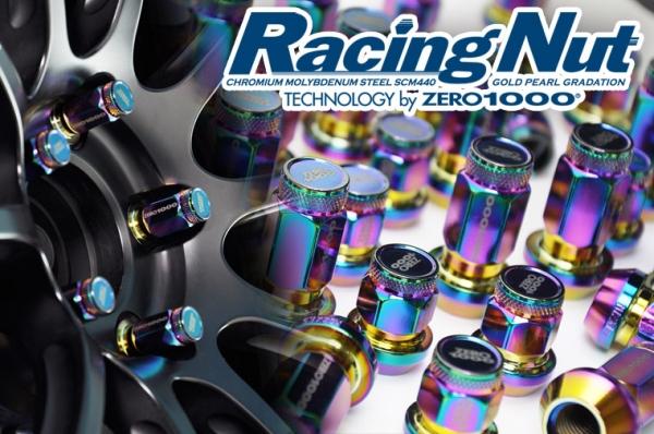 【ゼロ1000】レーシングナット 28mm袋ナット M12×P1.5(20本)