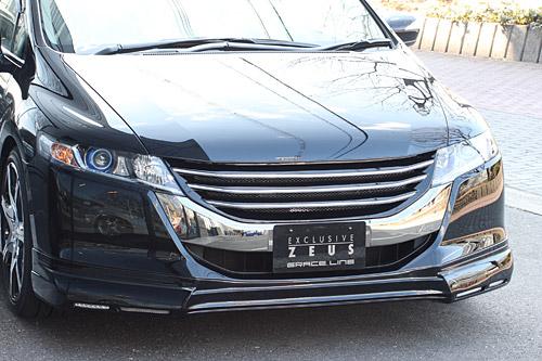 フロントハーフ【エクスクルージブ ゼウス】オデッセイ 【 GRACE LINE 】 フロントハーフスポイラー(LED付属) NH731P塗装済 | ODYSSEY (RB3/4) Ver.2 2008/11 - 2013/10