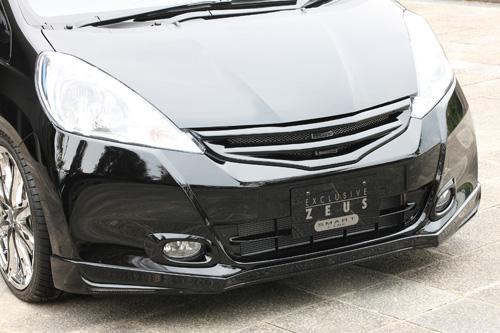 フロントハーフ【エクスクルージブ ゼウス】フィット 【 SMART LINE 】 フロントハーフスポイラー 未塗装品 | Fit (GE6.7.8.9/GP1) 後期 2010/10 - 2013/8