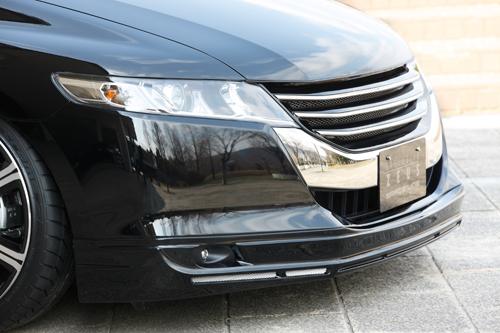 フロントハーフ【エクスクルージブ ゼウス】オデッセイ 【 GRACE LINE 】 フロントハーフスポイラー NH624P塗装済 | ODYSSEY (RB3/4) 2008/11 - 2013/10