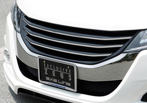 フロントグリル【エクスクルージブ ゼウス】オデッセイ 【 EXE LINE 】 フロントグリル 未塗装品 | ODYSSEY (RB3/4) 2008/11 - 2013/10